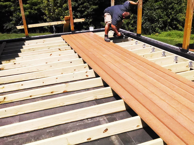 Rich timber wood for decking
